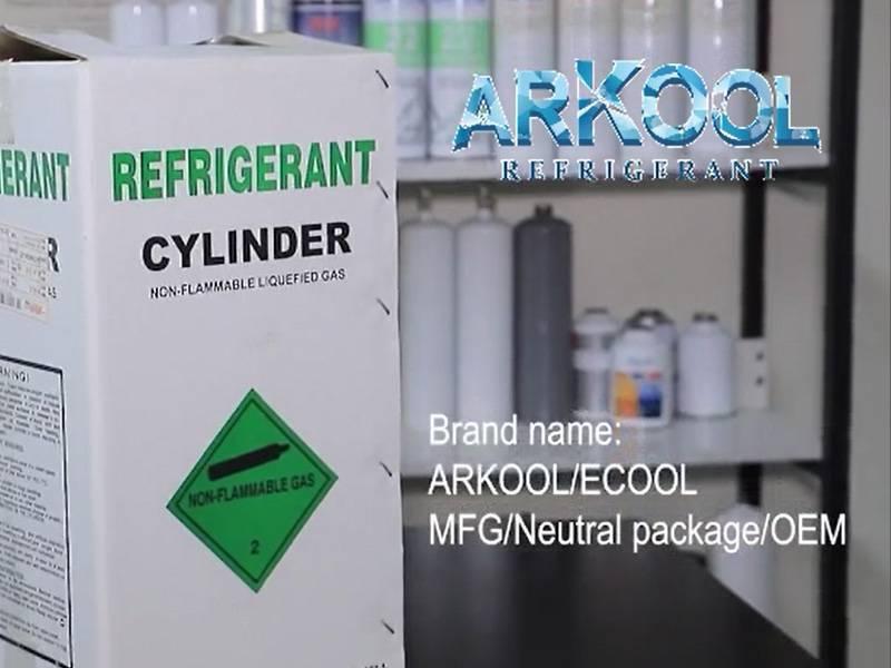 Refrigerant gas CE refillable cylinder for European market